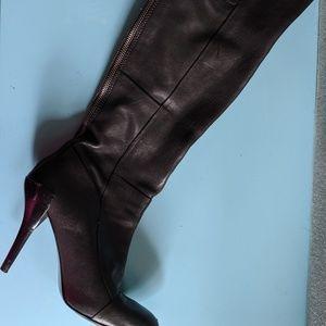 Nine West Black Over Knee Boots